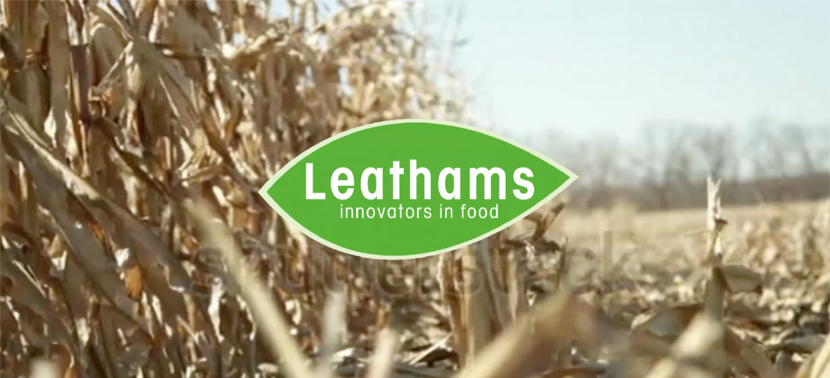 Leathams Logo with field as a background