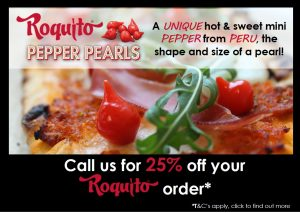 Roquito Pepper Pearls Promotion Flyer