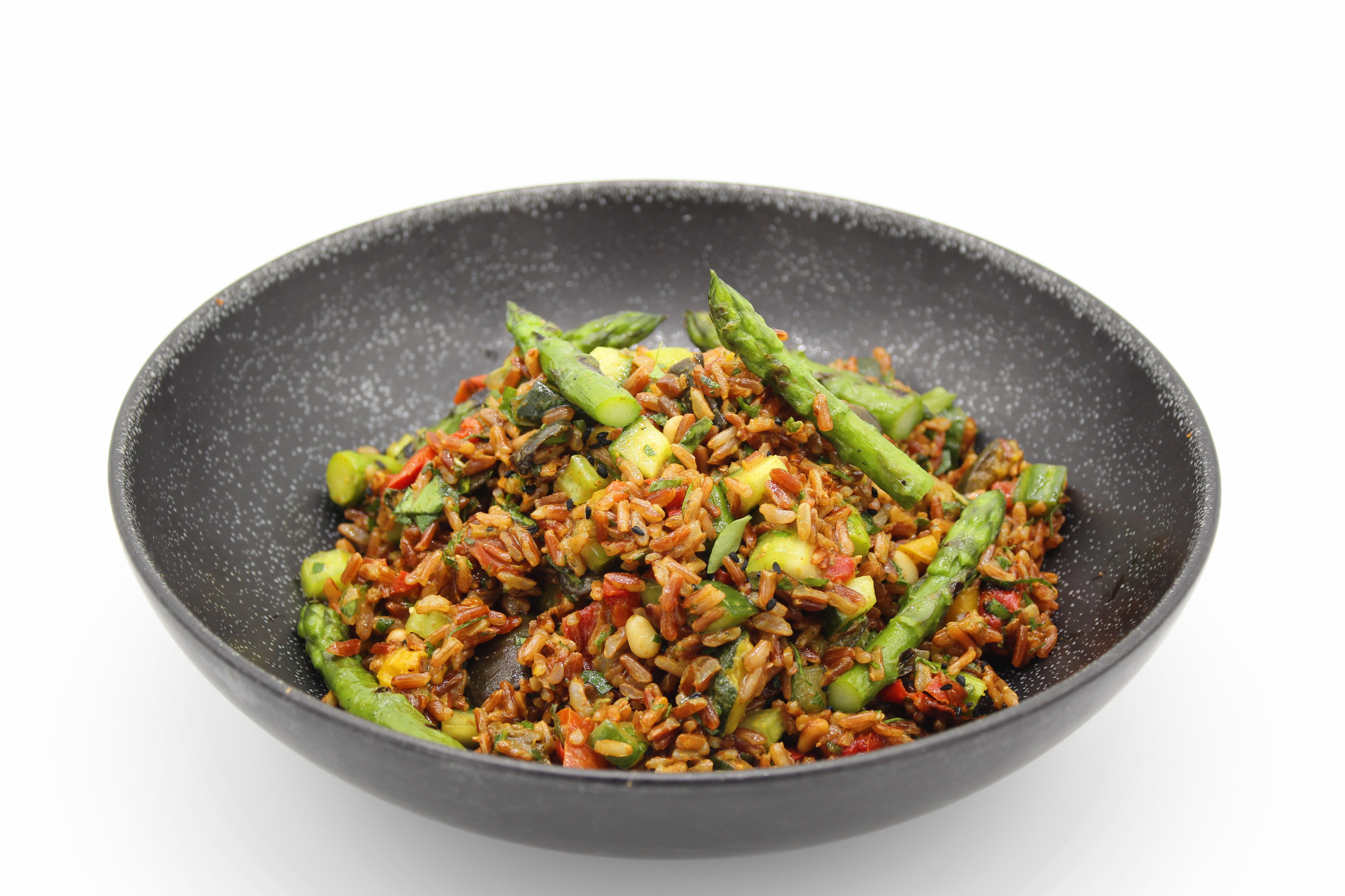 Indian Red Rice Salad