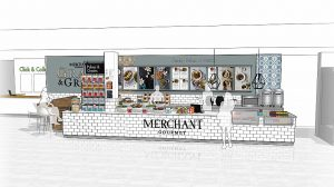 Merchant Gourmet's Grain and Graze Salisbury pop-up store Sketch