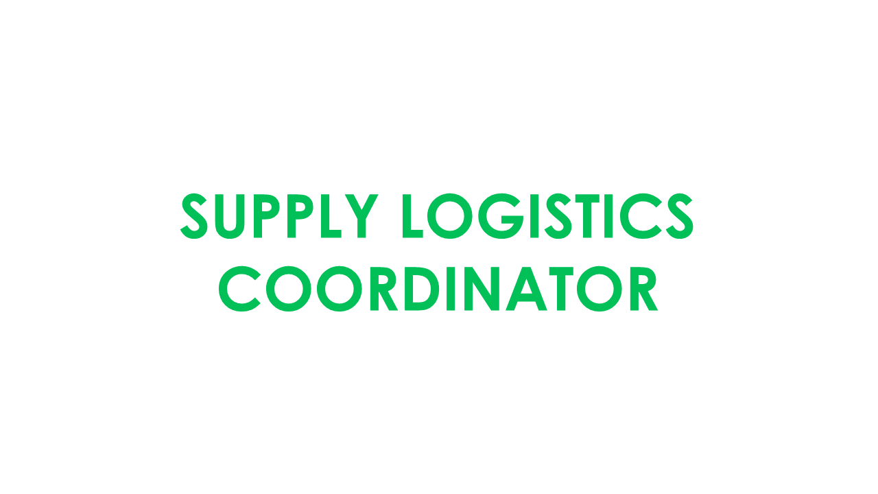 Supply Logistics Coordinator