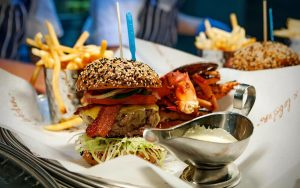 Burger & Lobster burger and lobster